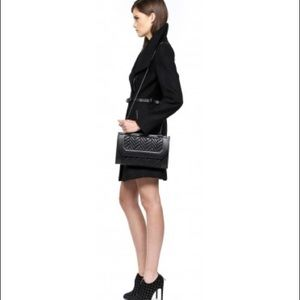 Mackage Black Quilted Leather Lela Clutch